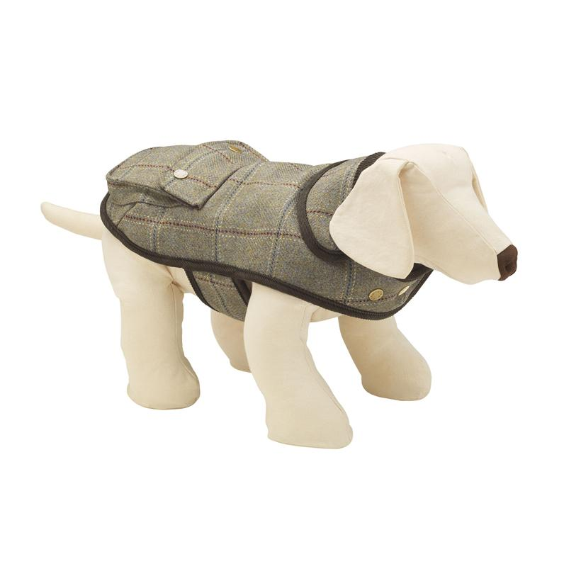 Chadwick Tweed Dog Jacket - LISH Dog Luxury Fashion and Accessories