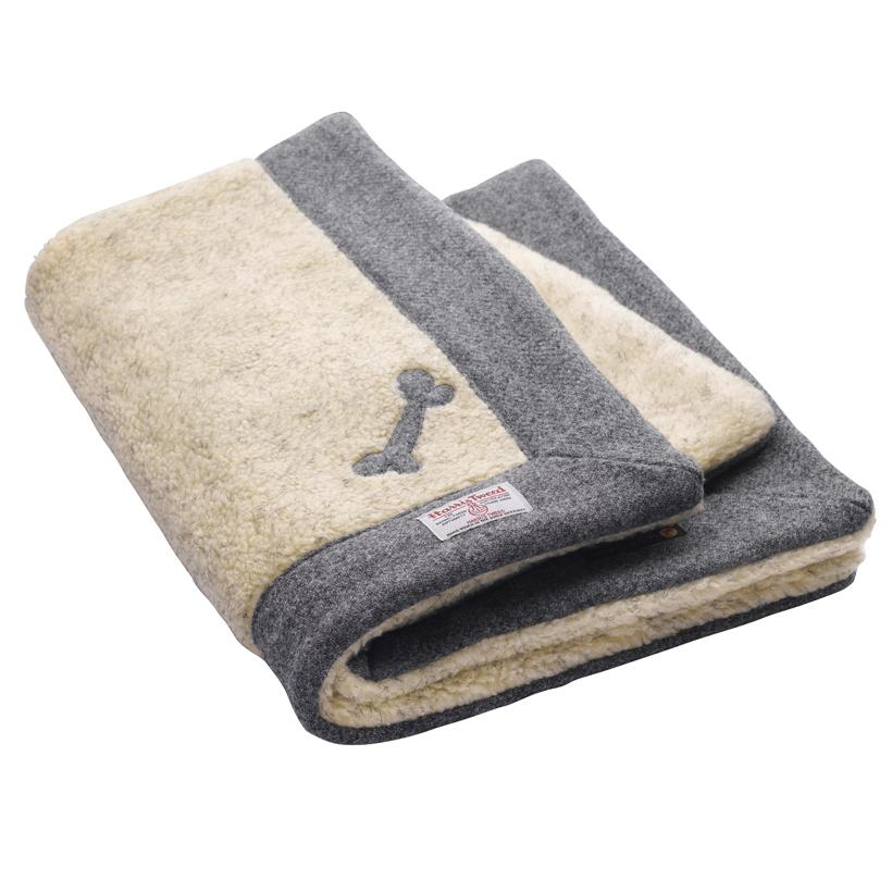Daplyn Grey Harris Tweed Dog Blanket - LISH Dog Luxury Fashion and Accessories