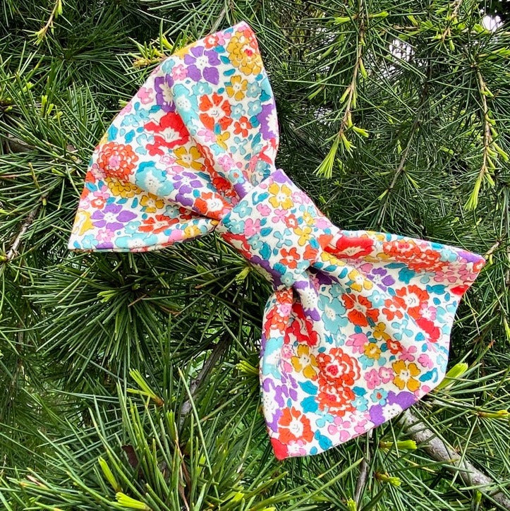 Liberty print handcrafted dog bow tie by LISH luxury petwear