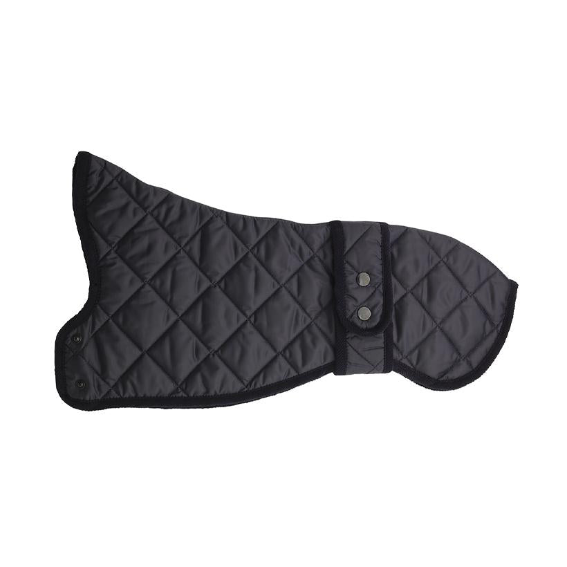New Elwin Navy Quilted Dog Raincoat for Whippets - LISH Dog Luxury Fashion and Accessories
