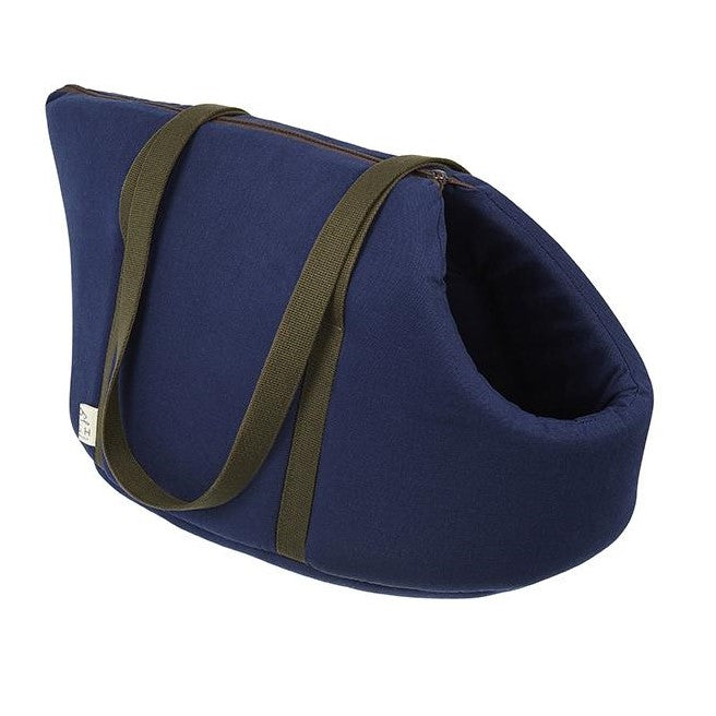 Kay Canvas Designer Pet Carrier Navy - LISH Dog Luxury Fashion and Accessories