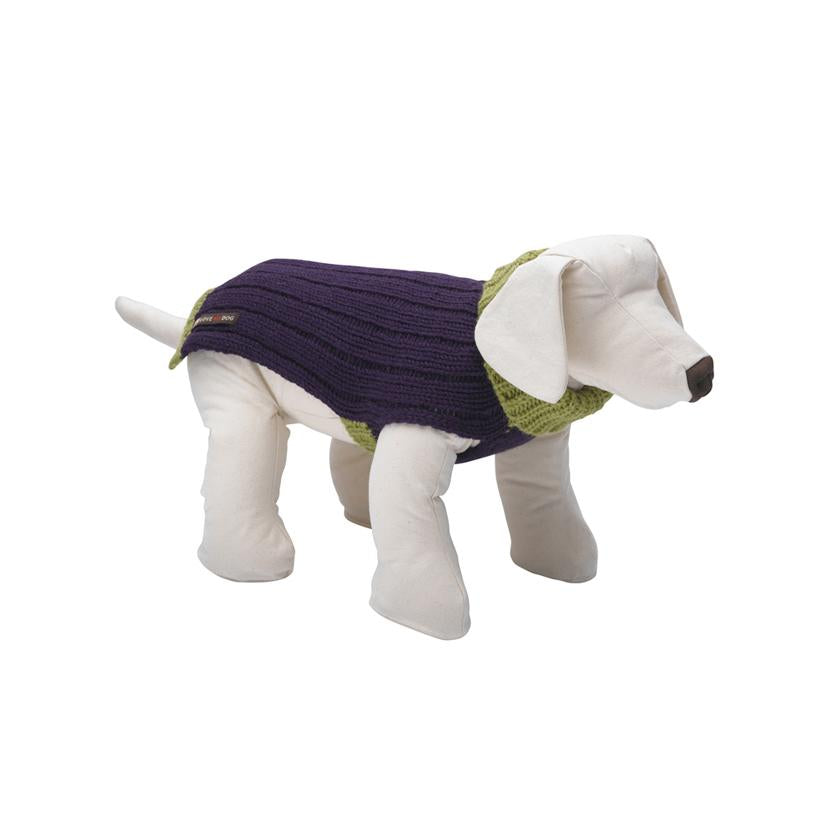 Rydon Purple Dog Jumper - LISH Dog Luxury Fashion and Accessories