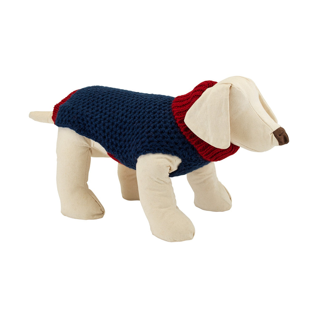Smithy Navy Polo Neck Dog Sweater