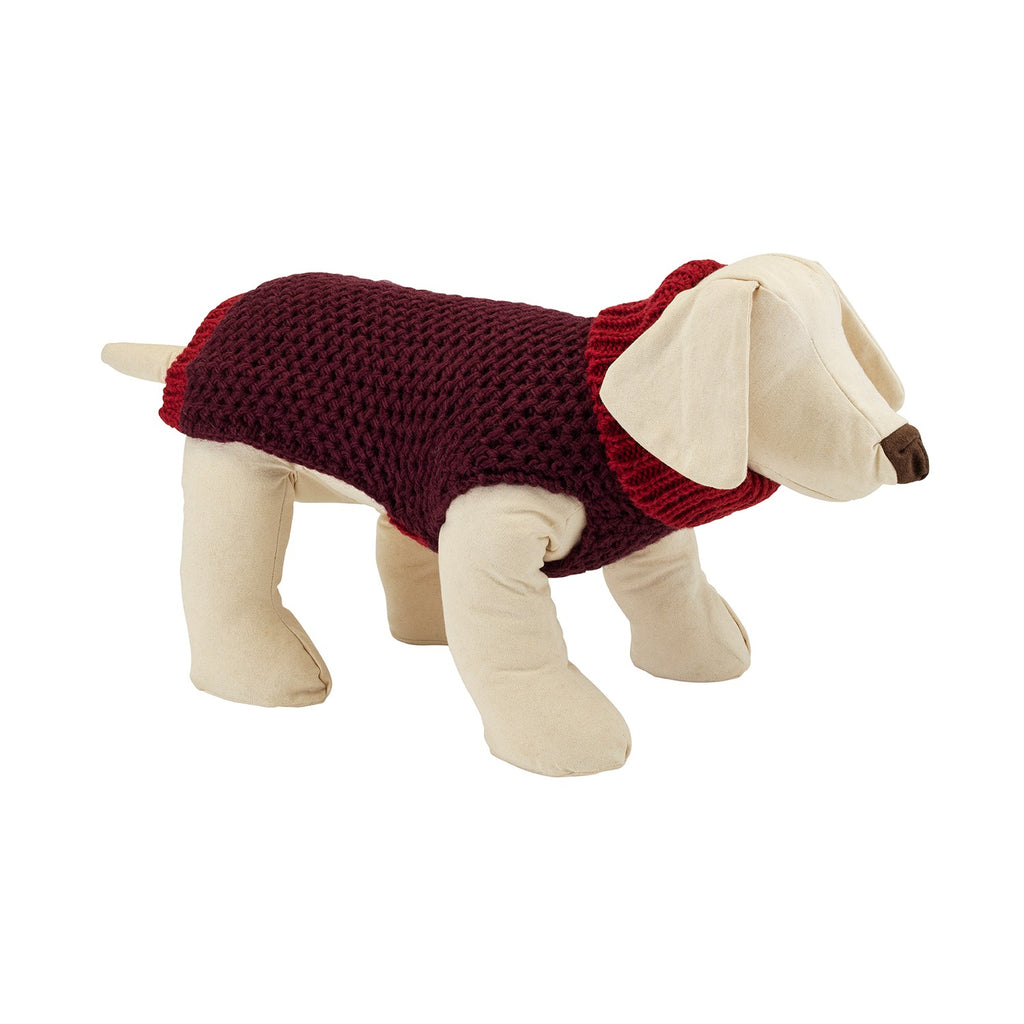 Smithy Maple Polo Neck Dog Sweater