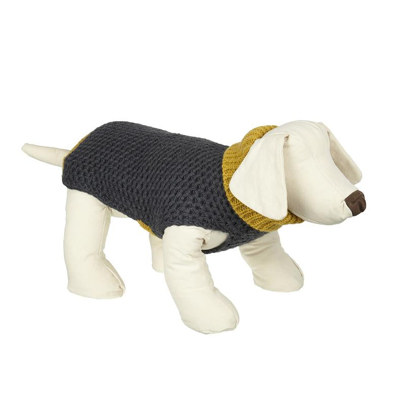 Smithy Yellow Polo Neck Dog Sweater - LISH Dog Luxury Fashion and Accessories