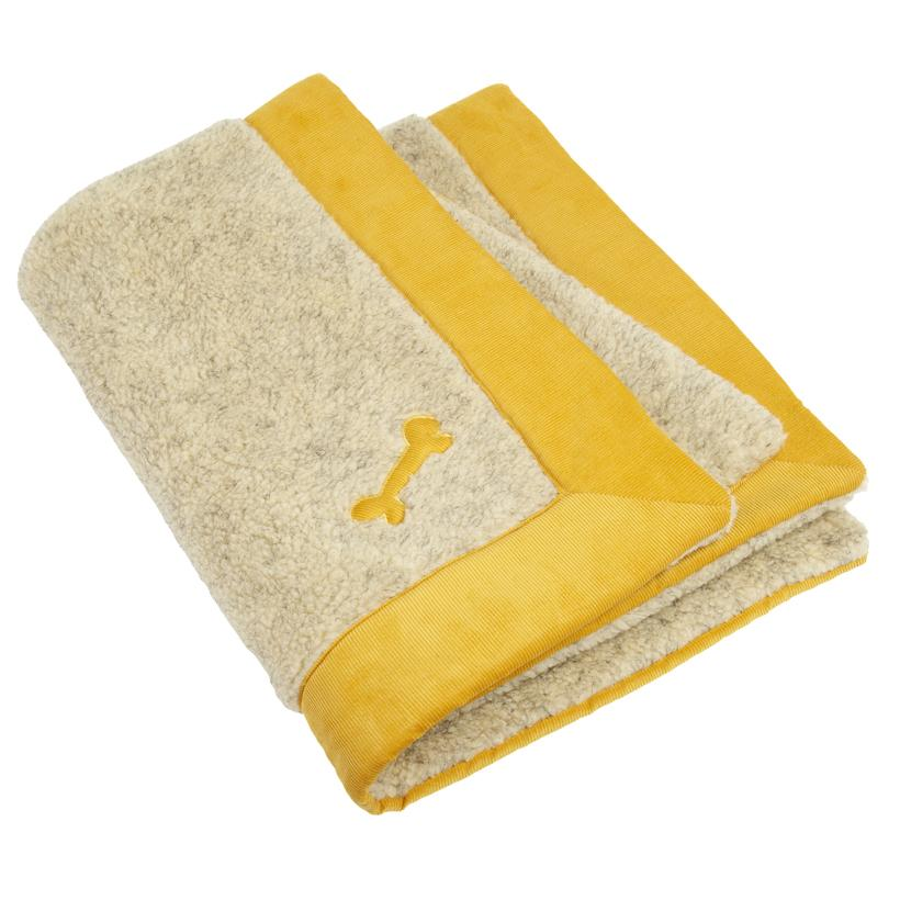 Spencer Corduroy Dog Blanket Yellow - LISH Dog Luxury Fashion and Accessories
