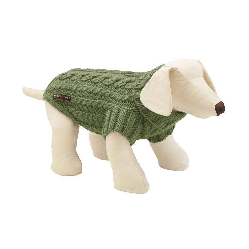 Wilmot Fern Dog Jumper - LISH Dog Luxury Fashion and Accessories