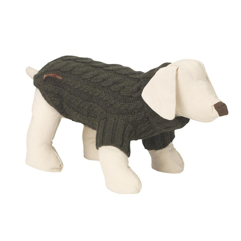Wilmot Khaki Dog Jumper - LISH Dog Luxury Fashion and Accessories