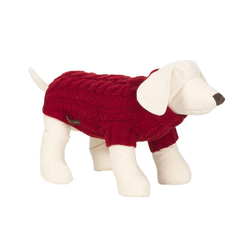 Wilmot Red Dog Jumper - LISH Dog Luxury Fashion and Accessories
