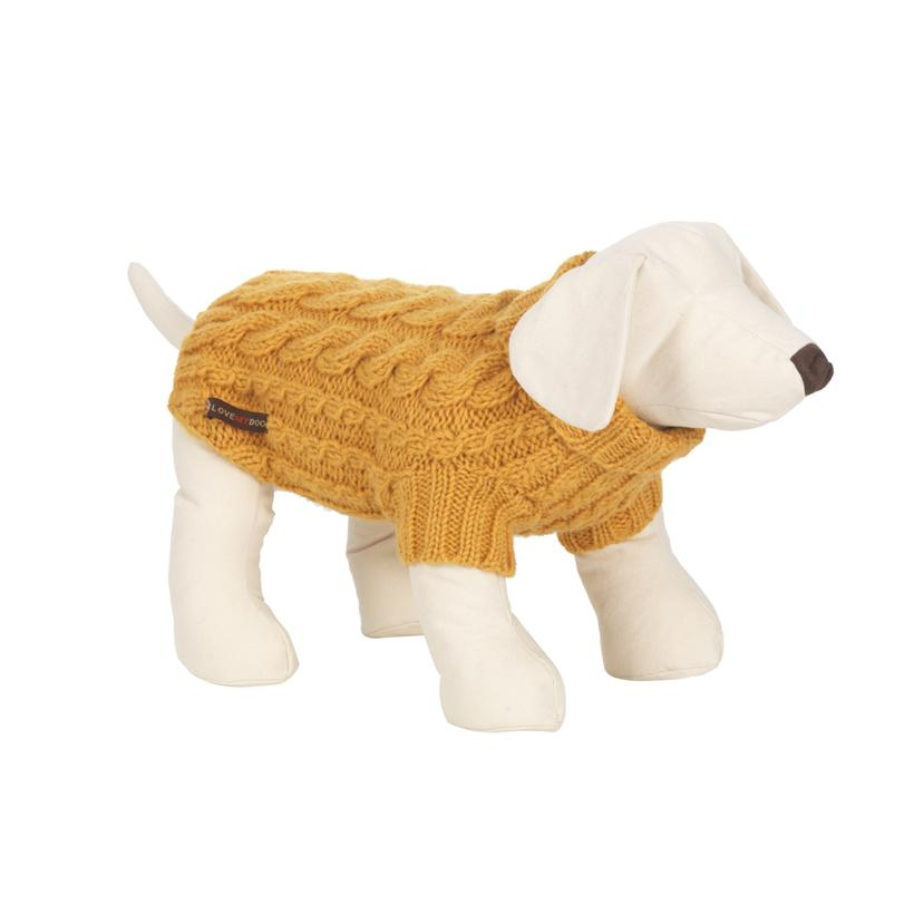 Wilmot Yellow Dog Jumper - LISH Dog Luxury Fashion and Accessories