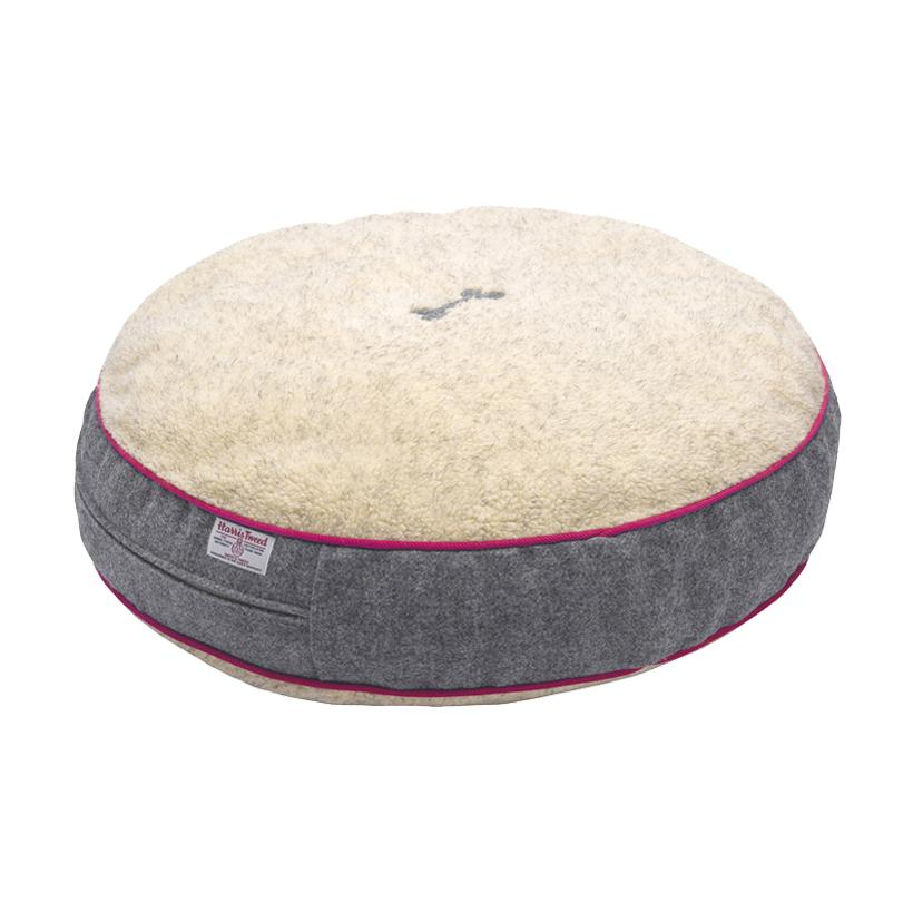 Daplyn Grey Harris Tweed Dog Bed - LISH Dog Luxury Fashion and Accessories