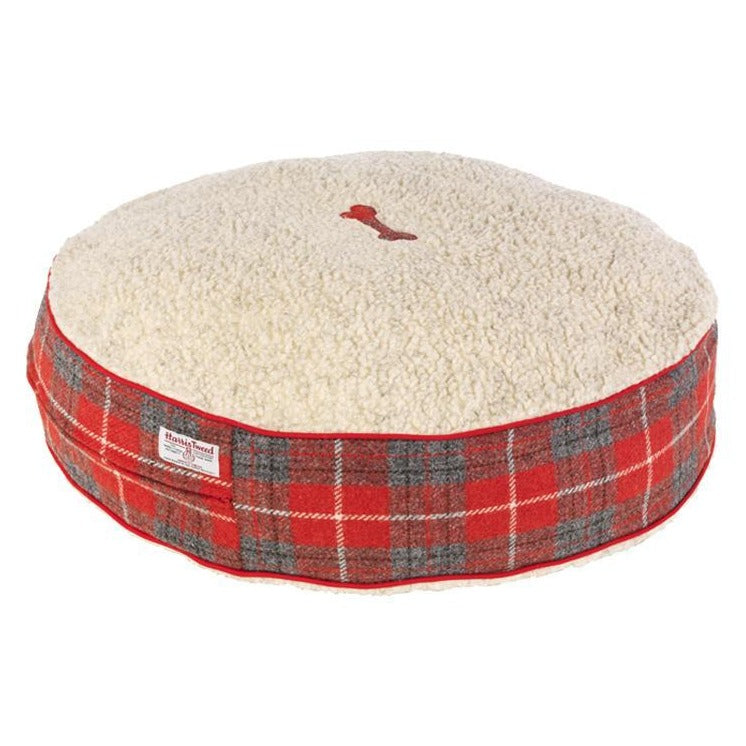 Hoxton Tartan Harris Tweed Bed - LISH Dog Luxury Fashion and Accessories