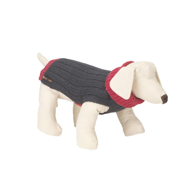 Rydon Pink/Grey Dog Jumper - LISH Dog Luxury Fashion and Accessories