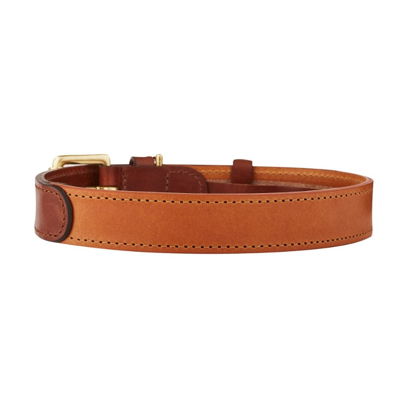 Toffee brown and chestnut brown designer leather dog collar by LISH luxury petwear
