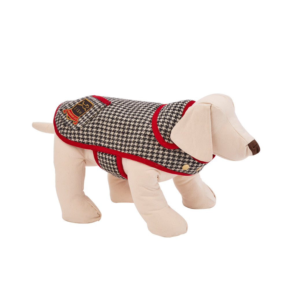 monochrome harris tweed designer dog coat by LISH London luxury petwear
