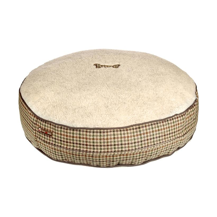 Sidworth Tweed Dog Bed - LISH Dog Luxury Fashion and Accessories