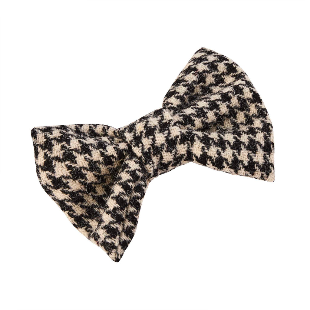 Designer dog bow tie monochrome harris tweed by LISH luxury petwear