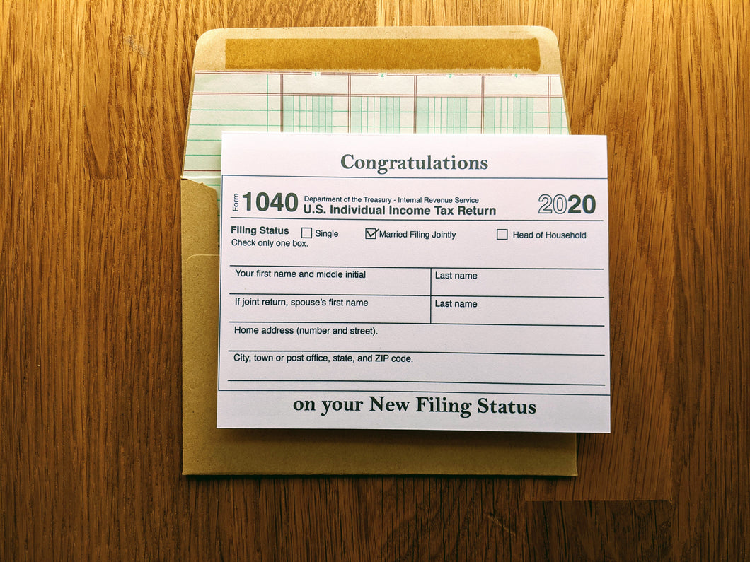 Accountant 1040 Wedding Card