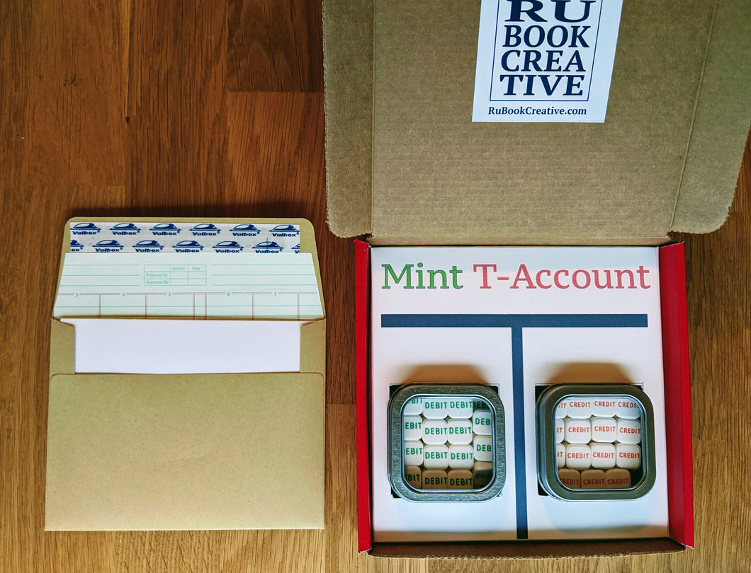 Accounting Gift Box | Mint T-Accounts