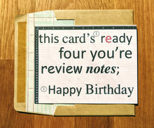 Load image into Gallery viewer, Birthday Accountant Review Notes