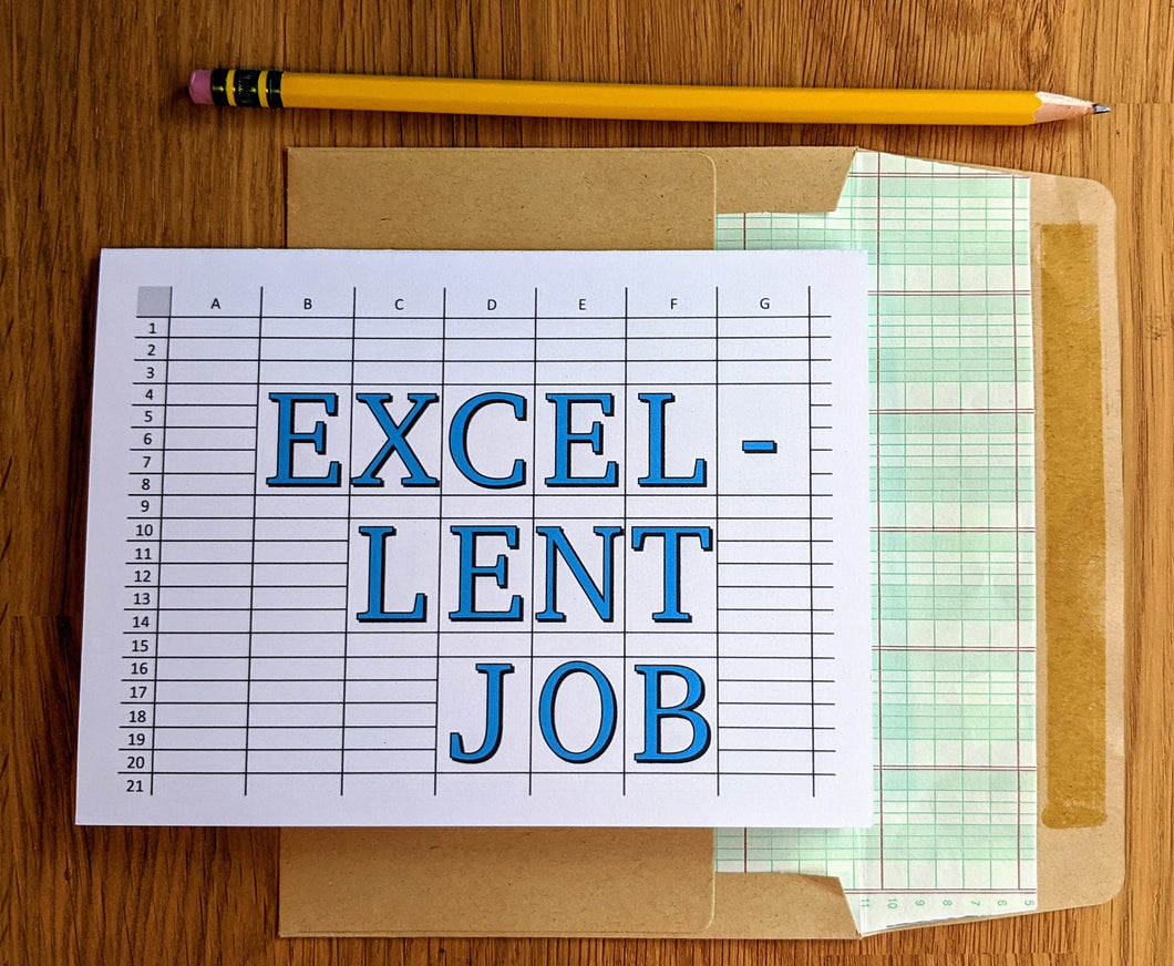 Excel-lent Job Greeting Card