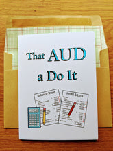 Load image into Gallery viewer, CPA Exam Motivational Greeting Card - AUD
