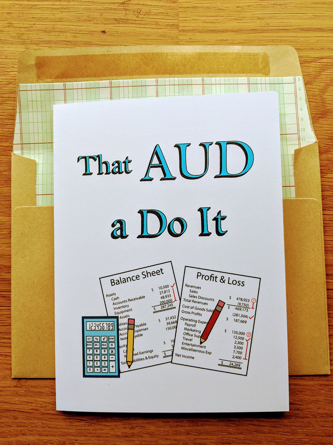CPA Exam Motivational Greeting Card - AUD