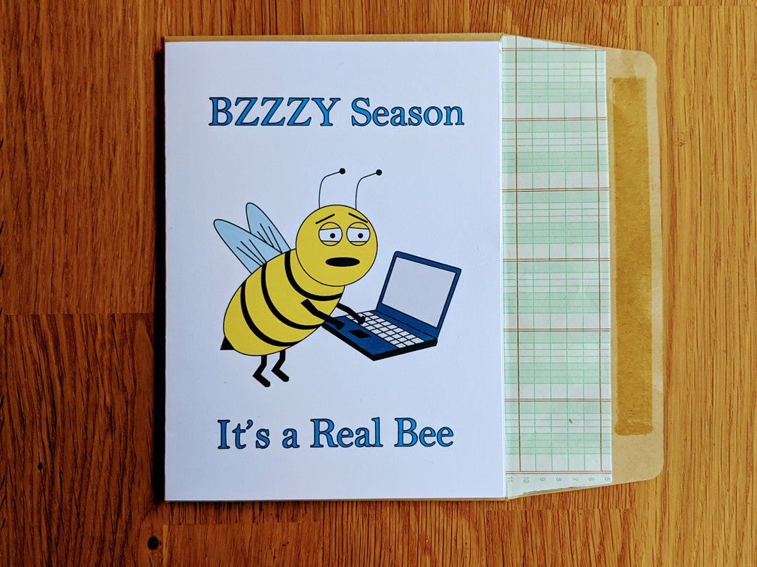 Bzzzy Season Accounting Greeting Card