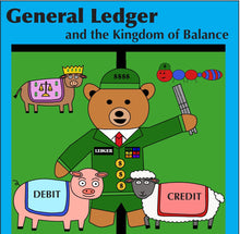 Load image into Gallery viewer, General Ledger and the Kingdom of Balance Accounting Children's Board Book