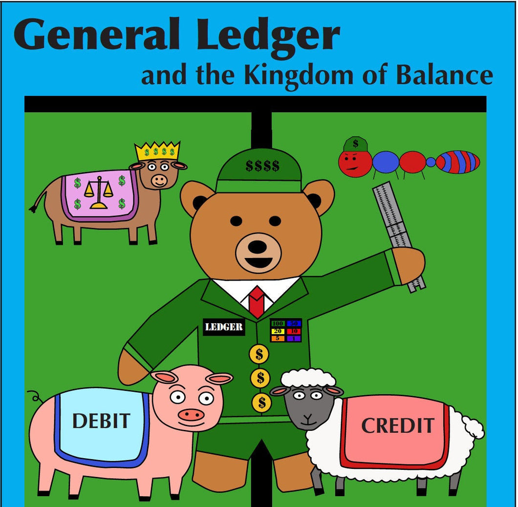 General Ledger and the Kingdom of Balance Accounting Children's Board Book