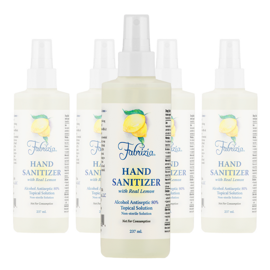 4 Pack of 8 oz Bottles With Spray Heads - 80% Ethyl Alcohol