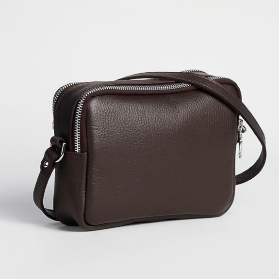 Women´s genuine leather small handbag - Estela