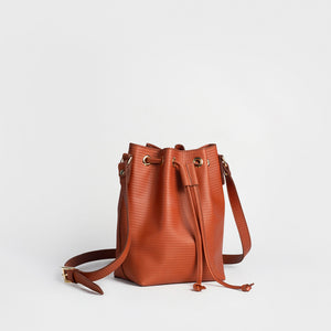 Women´s genuine leather hobo handbag - Bucket