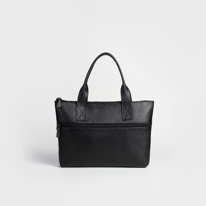 Leather laptop sleeve tote 13