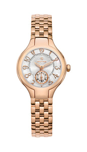 Classic Rose Gold Plated Round Mini Watch