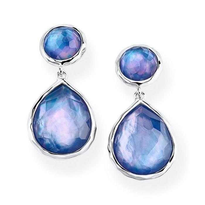 925 Rock Candy Two-Stone Drop Earrings