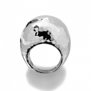 925 Classico Large Hammered Dome Ring