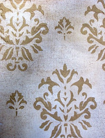 French Ornament Damask Stencil