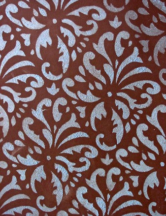 Indian Print Damask Stencil