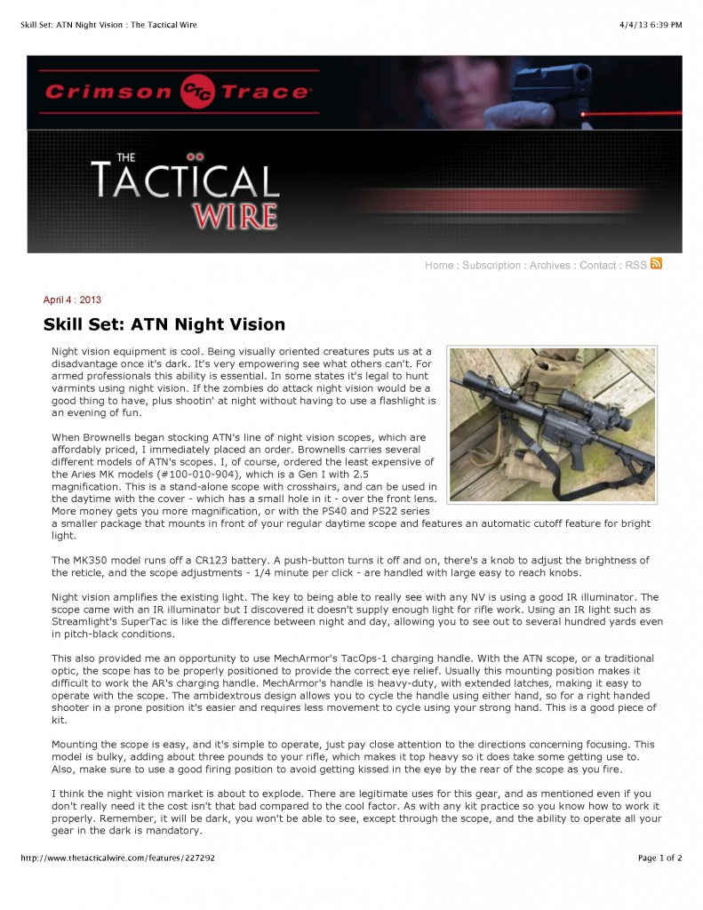 Tactical Wire Review of TacOps-1