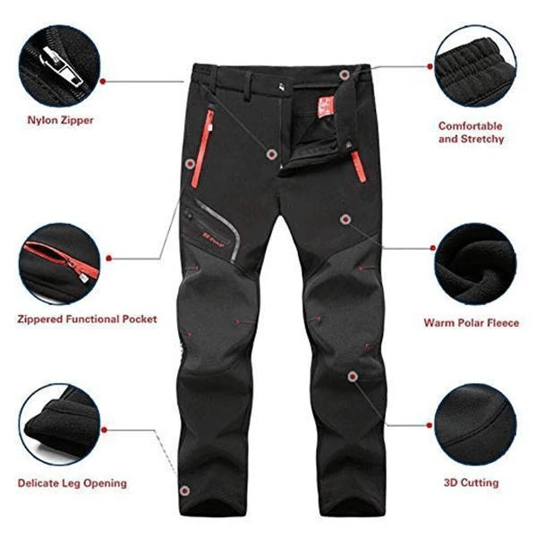 SOFT SHELL WATERPROOF WINTER PANTS