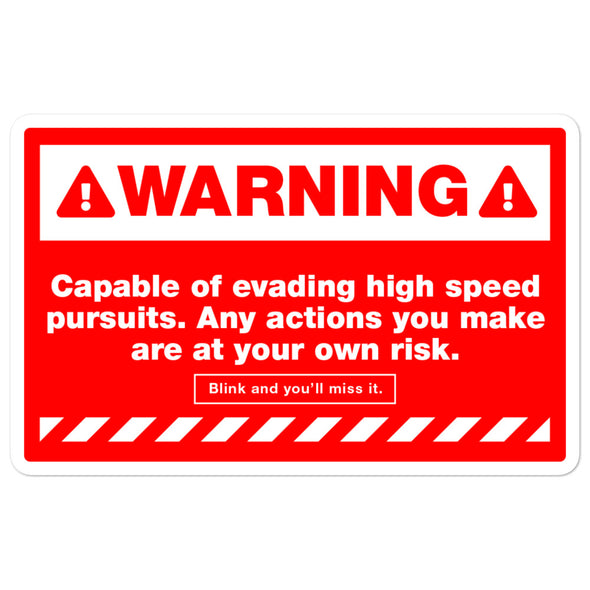 WARNING: COEHSP Sticker