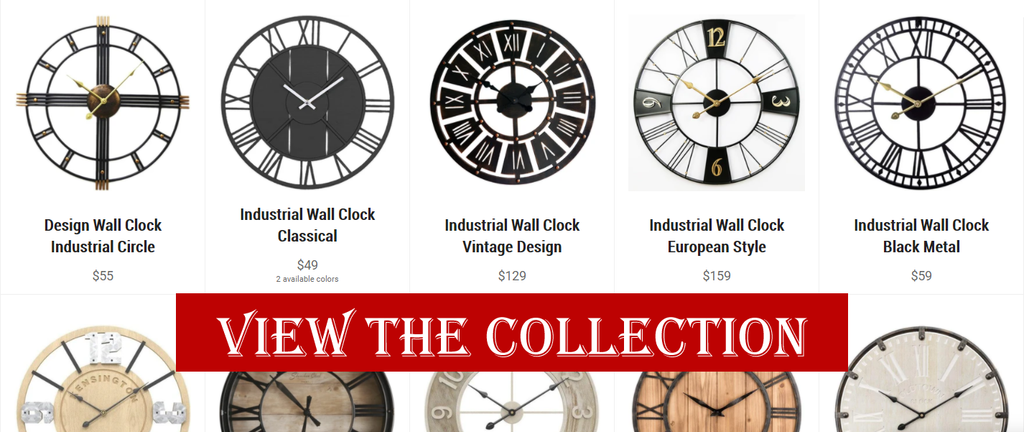 Industrial Wall Clock Collection