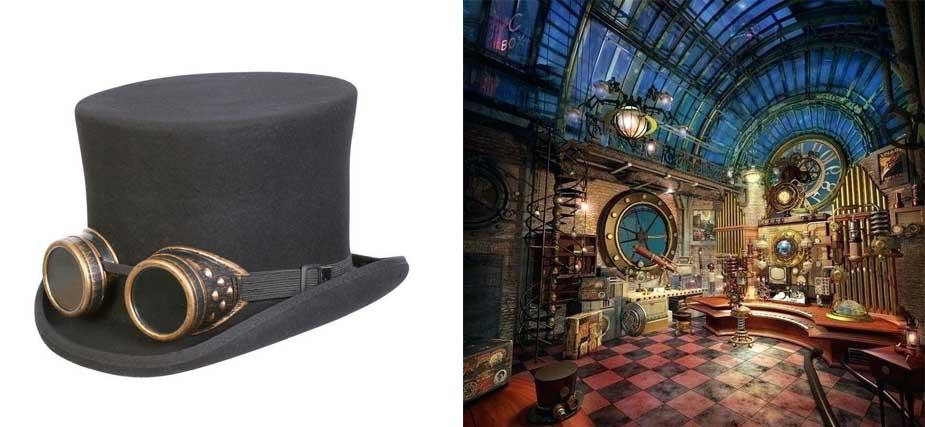 steampunk hat interior decoration