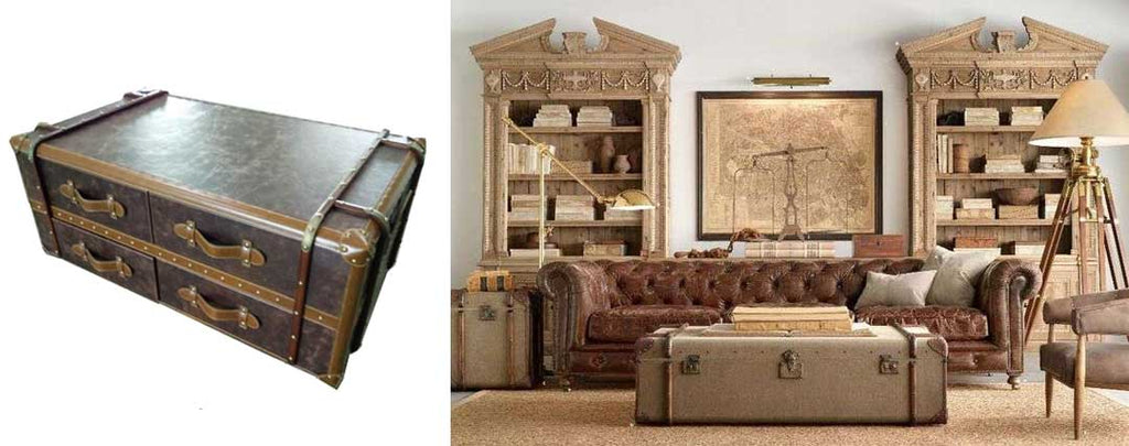 steampunk trunk interior decoration