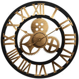 INDUSTRIAL WALL CLOCK GOLDEN STEAMPUNK