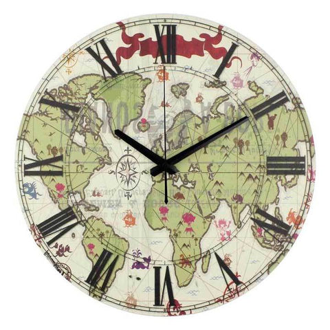 WORLD MAP WALL CLOCK JAPANESE