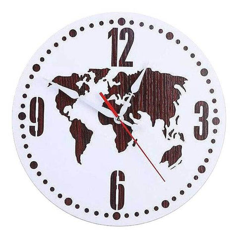 WORLD MAP WALL CLOCK SIMPLE MAP