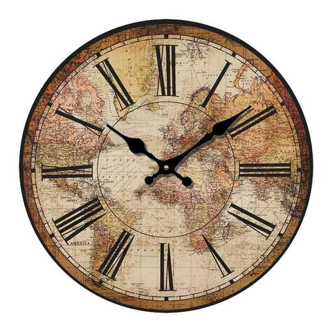 VINTAGE WALL CLOCK ANTIQUE WORLD