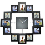 Photos Wall Clock Multicolored Frames
